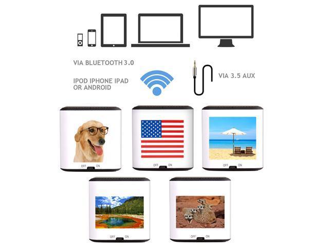 AGPTEK® American Flag Portable Wireless Bluetooth Speaker, CSR 4.0 Chipset, 1 Year Warranty, Built-in Mic, Pocket Size, Enhanced Bass Resonator, ...