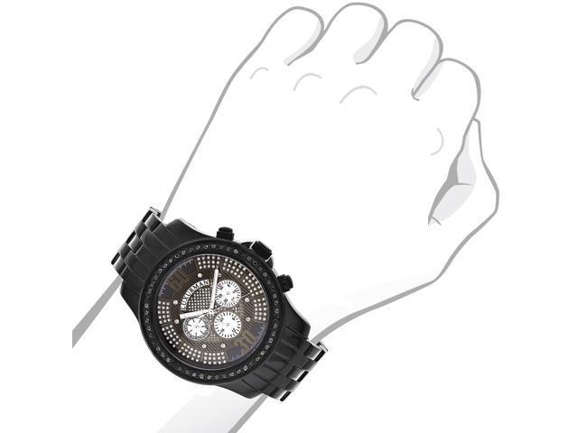 Mens Black Diamond Watches by LUXURMAN 2.25ct