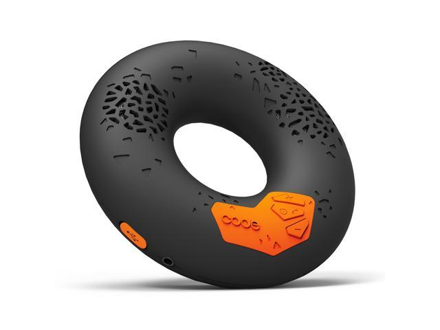CODE Donut Premium Portable Wireless Bluetooth Speaker with NFC Tag (Black, Enhanced Bass, Built-in Speakerphone, 8-hour Play Time)