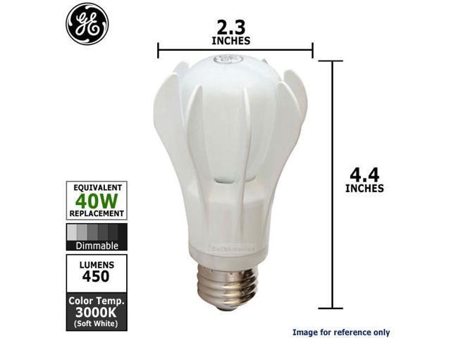 GE 9w 120v A-Shape A19 White Dimmable 3000k Energy Smart LED Light Bulb