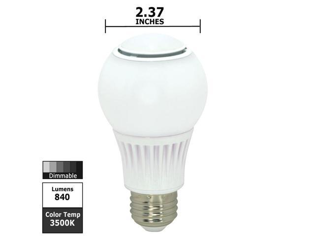 Satco S9035 9.8w 120v A-Shape A19 3500k Omni Directional Dimmable White LED Light Bulb