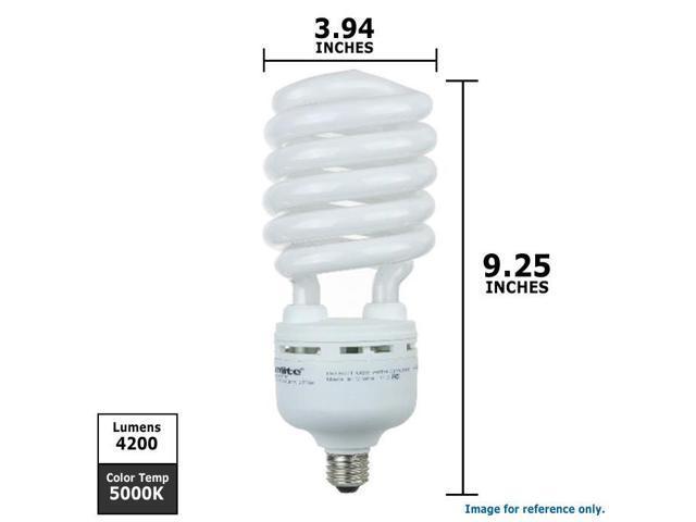 SUNLITE Compact Fluorescent 85W 5000k Super White CFL Twist Bulb - equiv. 350W