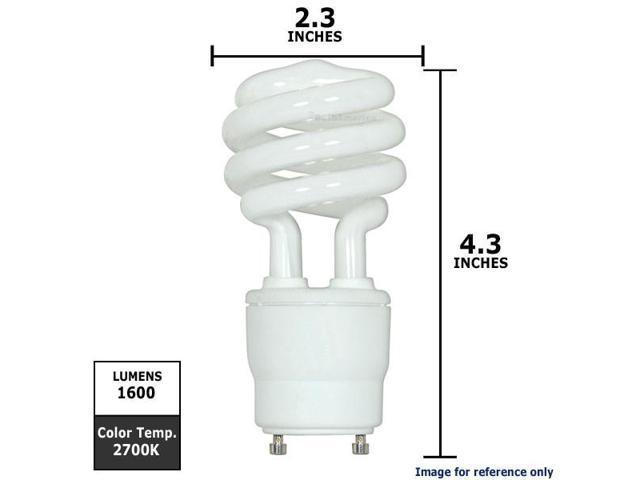 SUNLITE Compact Fluorescent 23W Mini Twist GU24 warm white light bulb