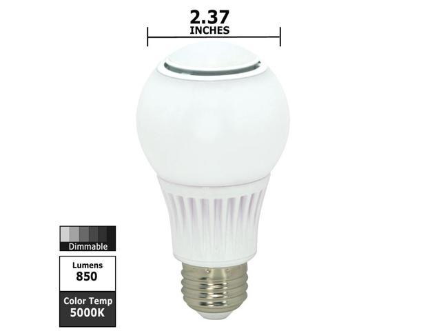 Satco S9036 9.8w 120v A-Shape A19 5000k Omni Directional Dimmable White LED Light Bulb