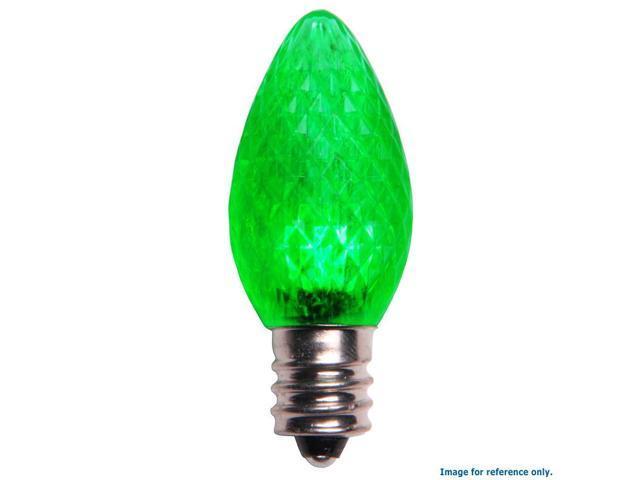 C7 LED Christmas Lamp Dimmable Green Light - 25 Bulbs