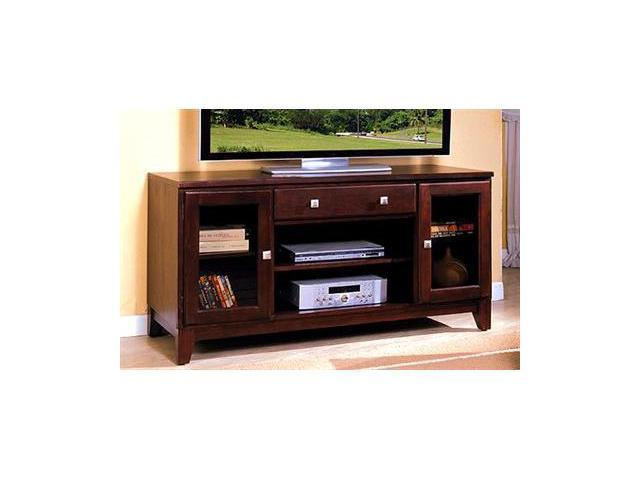 Aracelly 60in. Console Television Stand in Dark Cherry Finish by Furniture of America
