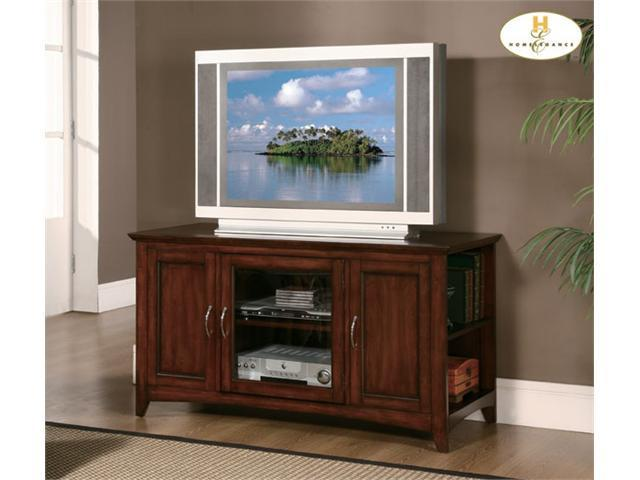 Warm Cherry Wood Media Center Storage TV Stand Console By Homelegance Furniture
