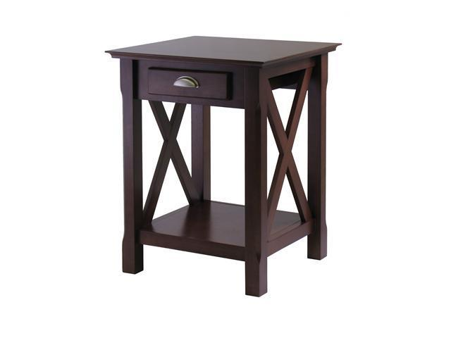 Xola Night Stand In Cappuccino By Winsome