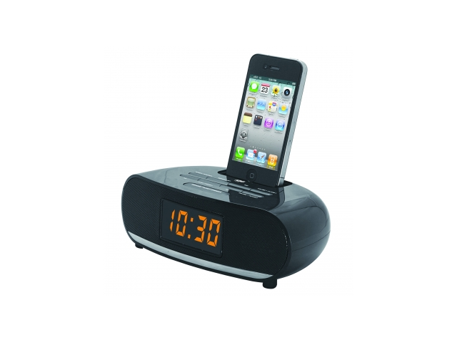 Naxa PLL Digital Alarm Clock Radio with Dock for IPod and IPhone NI-3107