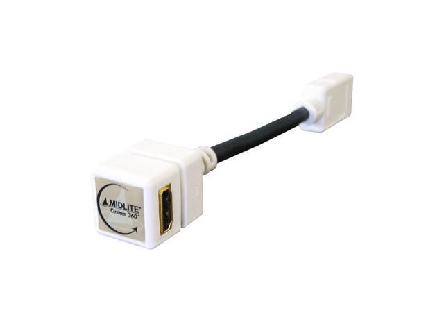 HDMI Right Angle Cable Adaptor, For Use With 50-10305 White