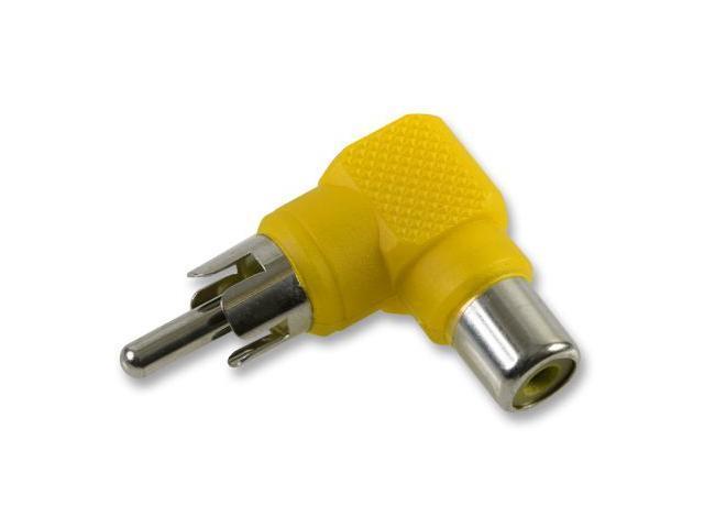 RCA Adapter 90 Degree Yellow