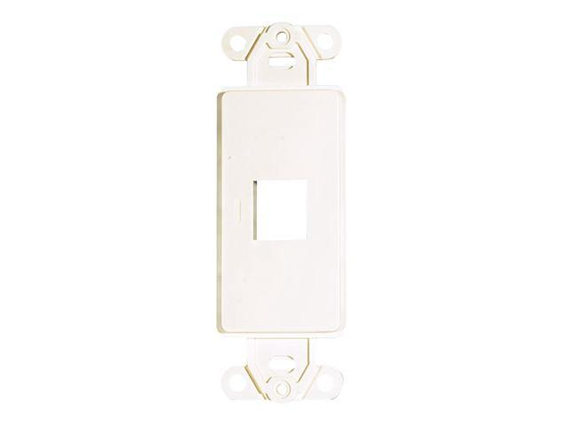Adaptiplate™ White Decora Style Keystone Wall Plate - One Hole