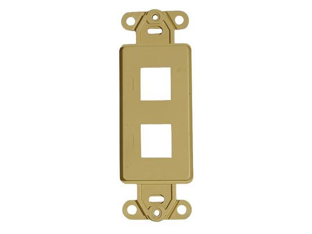 Adaptiplate™ Ivory Decora Style Keystone Wall Plate - Two Hole
