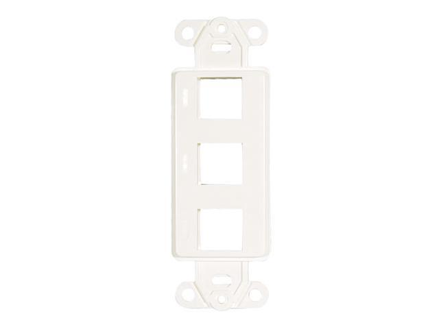 Adaptiplate™ White Deocra Style Keystone Wall Plate - Three Hole