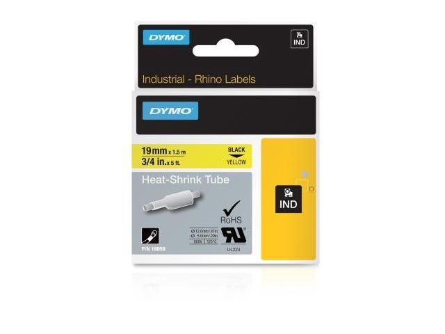 RHINO 3/4 inch Yellow Heat Shrink Label Cartridge