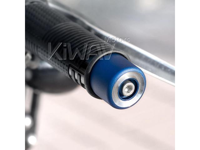 Magazi blue bar end cap plug cover aluminum CNC 7/8