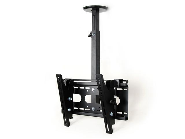 Homemounts HM002C New Black Angle Free Tilt Height Adjustable 23''-42'' LCD LED PDP Ceiling Mounts