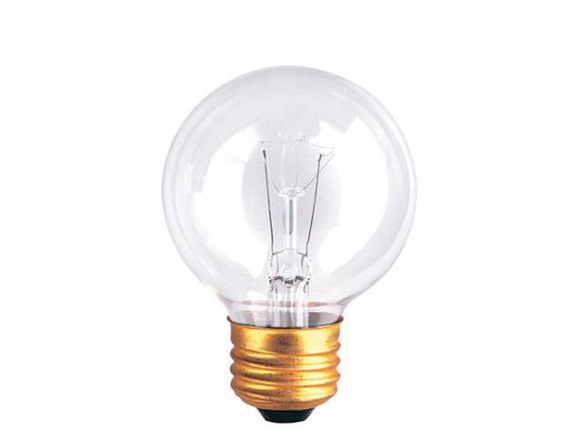Bulbrite 321040 - 15PK - 40W - G19 - Medium Base - 125V - 2600K - 2,500Hrs - Clear - Incandescent Globe Light Bulbs