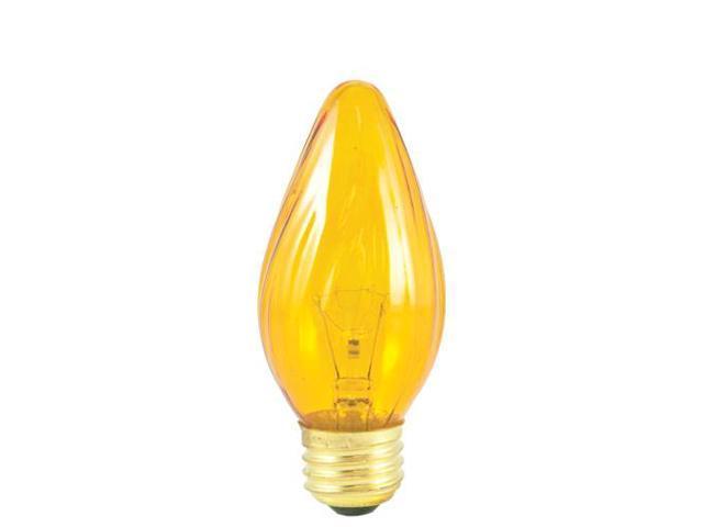 Bulbrite 421240 - 50PK - 40W - F15 - E26 Base - 130V - 2600K - 2,500Hrs - Amber - Fiesta Incandescent Chandelier Bulbs