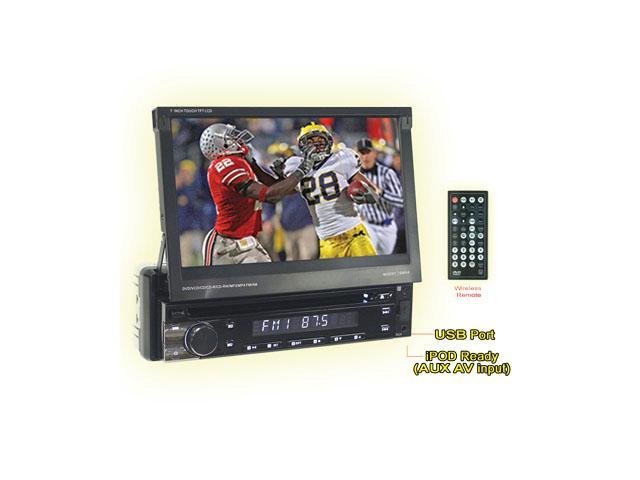 "Performance Teknique ICBM-9779 7"" TFT TOUCH SCREEN MONITOR, IN-DASH ONE DIN, DVD/CD/MP3/MP4/WMA PLAYER, BLUETOOTH, AM/FM/MPX RADIO, USB PORT/SD ..."