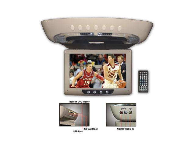 "Performance Teknique ICBM-9529 11.2"" DIGITAL TFT CEILING MOUNT MONITOR, WITH BUILT-IN DVD PLAYER, USB PORT/SD CARD INTERFACE, FLIP-DOWN & 225° ..."