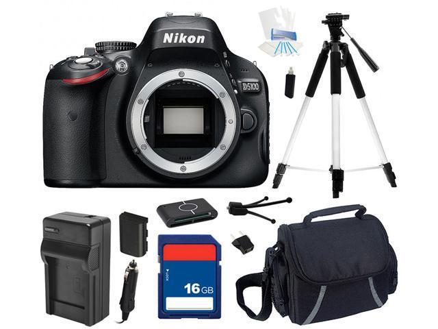 Nikon D5100 16.2MP CMOS Digital SLR with Vari-Angle LCD Monitor Body Only, Beginner's Bundle Kit, 25476