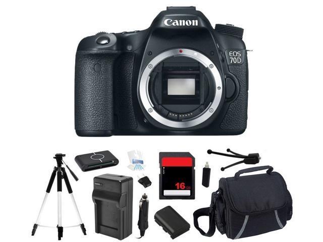 Canon EOS 70D 18.0 MP Digital SLR Camera (Body Only) (Starter's Bundle)