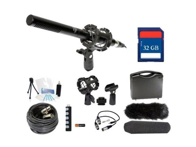 Microphone Broadcasting Kit + 32GB SD Memory Card for Canon XF205 XF200 HF G30 HDC-TM200 HDC-SD200