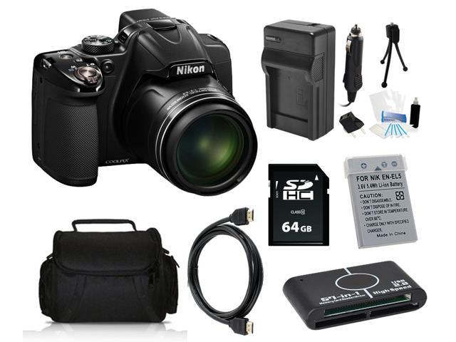Nikon COOLPIX P530 16.1 MP Digital Camera with 64GB Pro Holiday Equipment Bundle