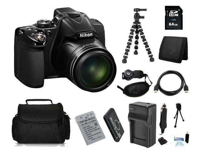 Nikon COOLPIX P530 16.1 MP Digital Camera with 64GB Bendable Tripod Holiday Kit
