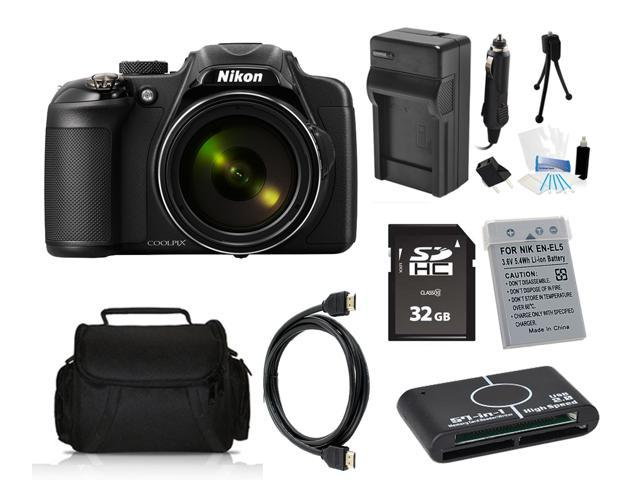 Nikon COOLPIX P600 16.1 MP Digital Camera with 32GB Pro Holiday Equipment Bundle