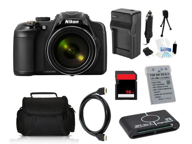 Nikon COOLPIX P600 16.1 MP Digital Camera with 16GB Pro Holiday Equipment Bundle