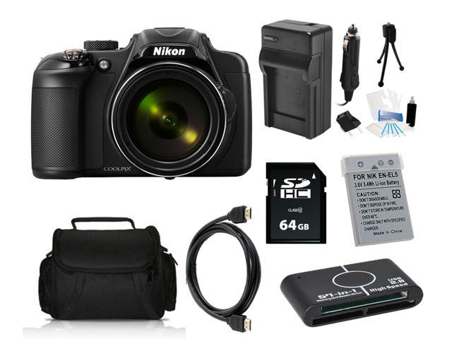 Nikon COOLPIX P600 16.1 MP Digital Camera with 64GB Pro Holiday Equipment Bundle