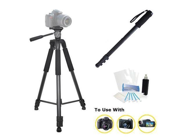 75-Inch Professional tripod + Monopod bundle for Panasonic Lumix DMC-ZS40 Camera