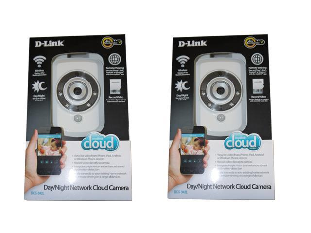 Two Pack D-Link Wireless Day/Night microSD Network Surveillance Camera DCS-942L