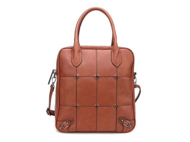MLC Women Stylish Handbag Collection 'Zachary' Roomy Satchel Bag in BROWN Color