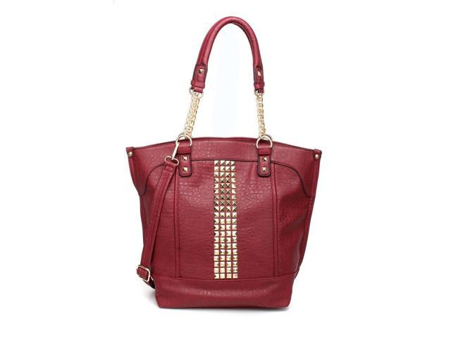 MLC Women Stylish Handbag Collection 'Nadia' Tote Bag in WINE Color
