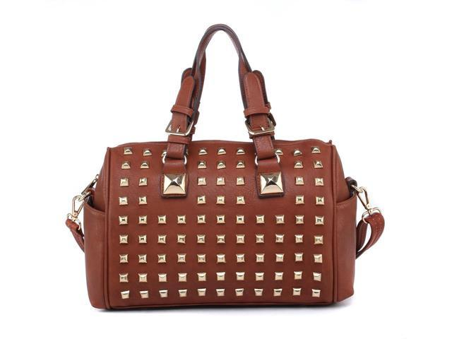 MLC Women Stylish Handbag Collection 'Poppy' Satchel Bag in BROWN Color