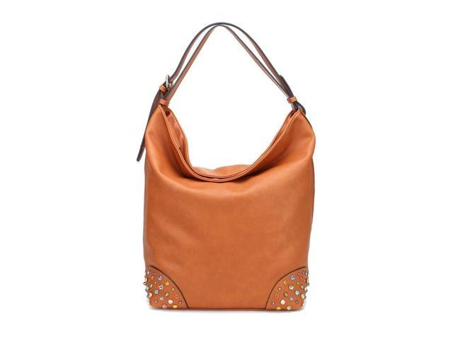 MLC Women Stylish Handbag Collection 'Chynna' Large Shoulder Bag in Brown Color
