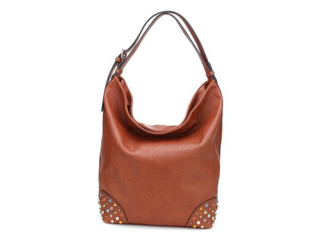 MLC Women Stylish Handbag Collection 'Chynna' Large Shoulder Bag in D.Brown Color
