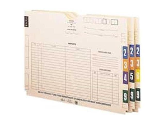 Smead Manufacturing Company SMD67497 Color Coded Numeric Labels- 1-.50in.x1-.88in.- 7- Brown