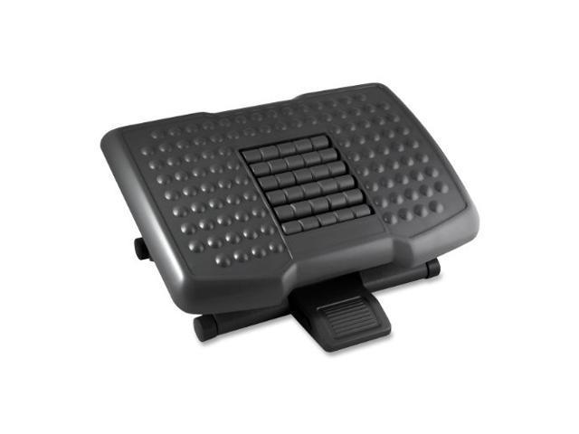 Kantek KTKFR750 Footrest w- Rollers- Adjustable- 18in.x13in.x4in.- Black