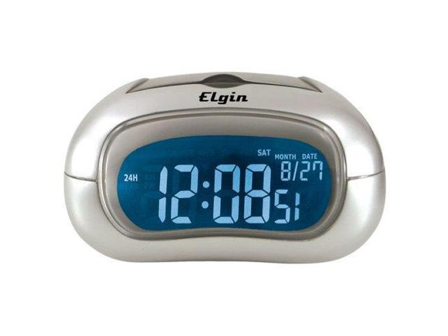 Geneva Multifunction Electric LCD Alarm Clock Silver 3455E Pack Of 2