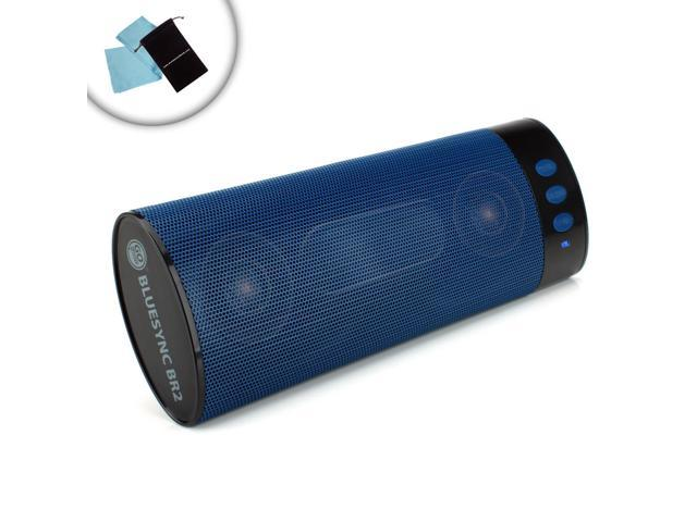 GOgroove BlueSYNC BR2 Portable Wireless Bluetooth 2.1 Rechargeable Stereo Speaker for Smartphones , Tablets , MP3 Players & More - Bonus Cleaning ...