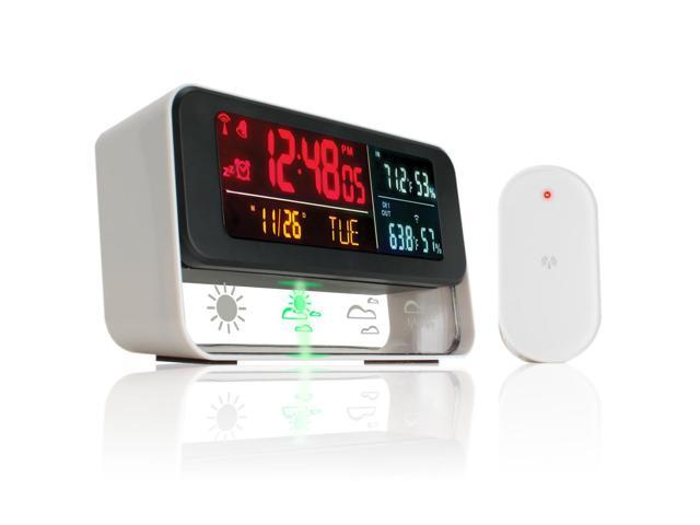 Accessory Power Enhance Weather Forecasting Station & Digital Alarm Clock