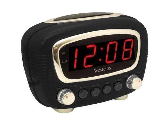 Westclox Black LED Alarm Clock 70048BK