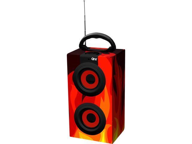 Spk M.Media Spkr Fm Radio-Flameskull With Two 3W 90Mm Speakers - Portable