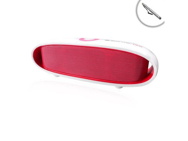 GOgroove Portable Bluetooth Speaker BlueSYNC DRM with 10-Hour Battery (Red) – Works With Apple iPad Air 2 , Google Nexus 9 , Samsung Galaxy Tab ...