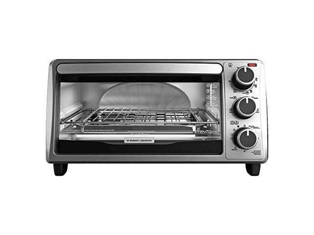 Black & Decker TO1303SB Stainless Steel 4Slice Bezel ToasterOven