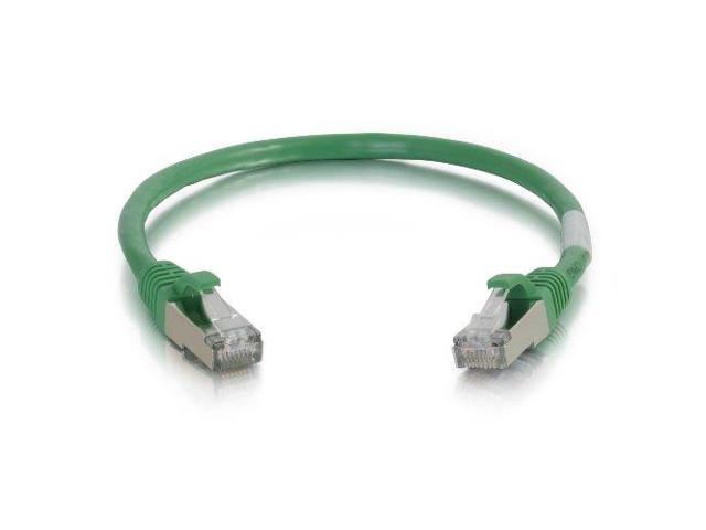 C2G 2FTCAT6 SNAGLESS SHIELDED (STP) NETWORK PATCH CABLE - GREEN